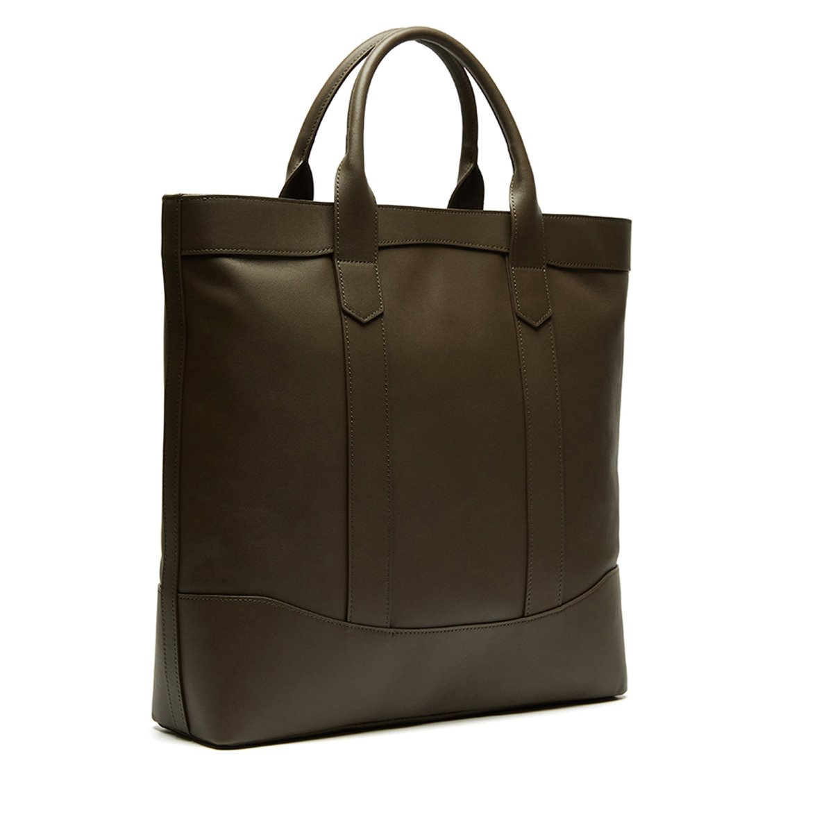 Dark Brown Leather D.L Tote Bag