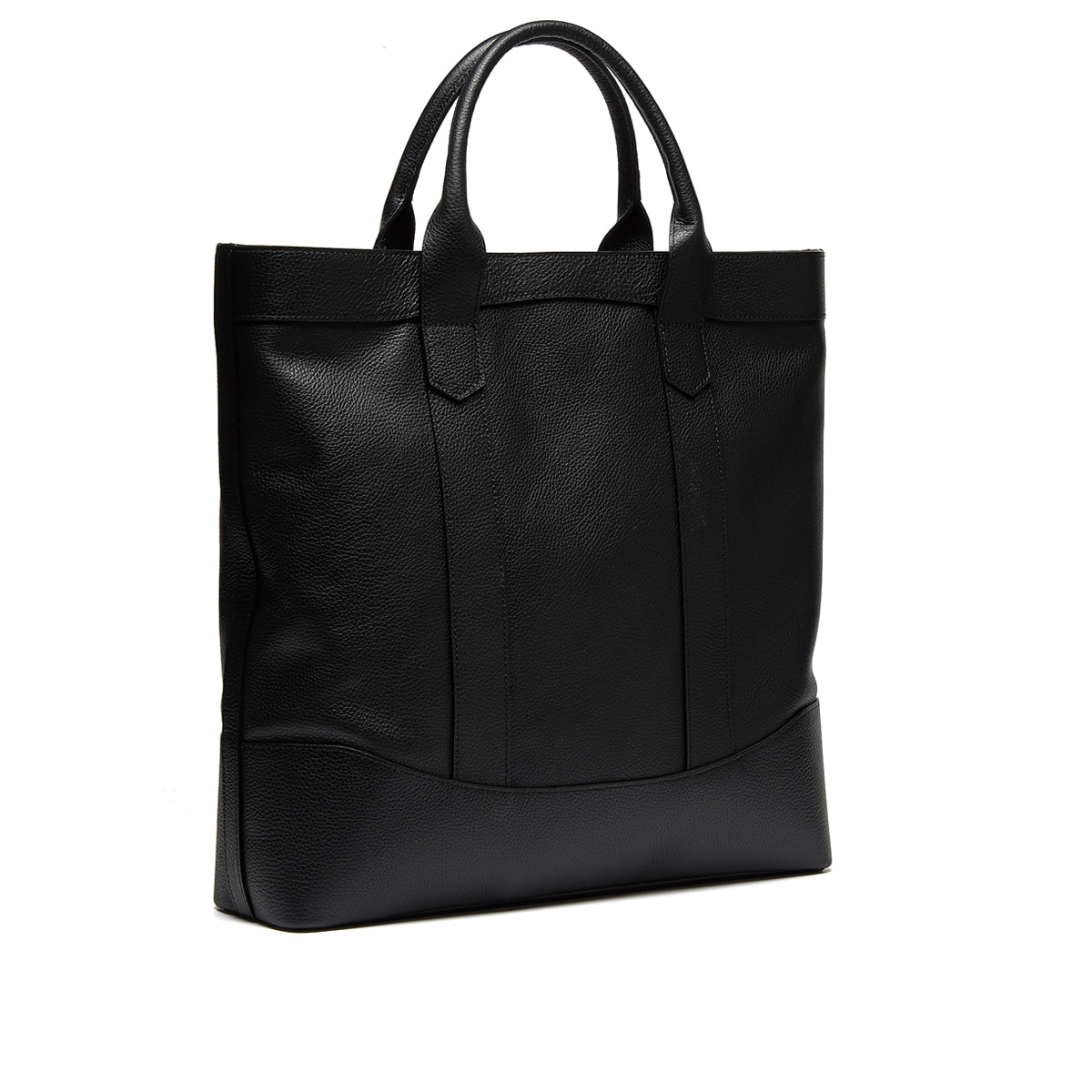 Black Shrunken Leather D.L Tote bag