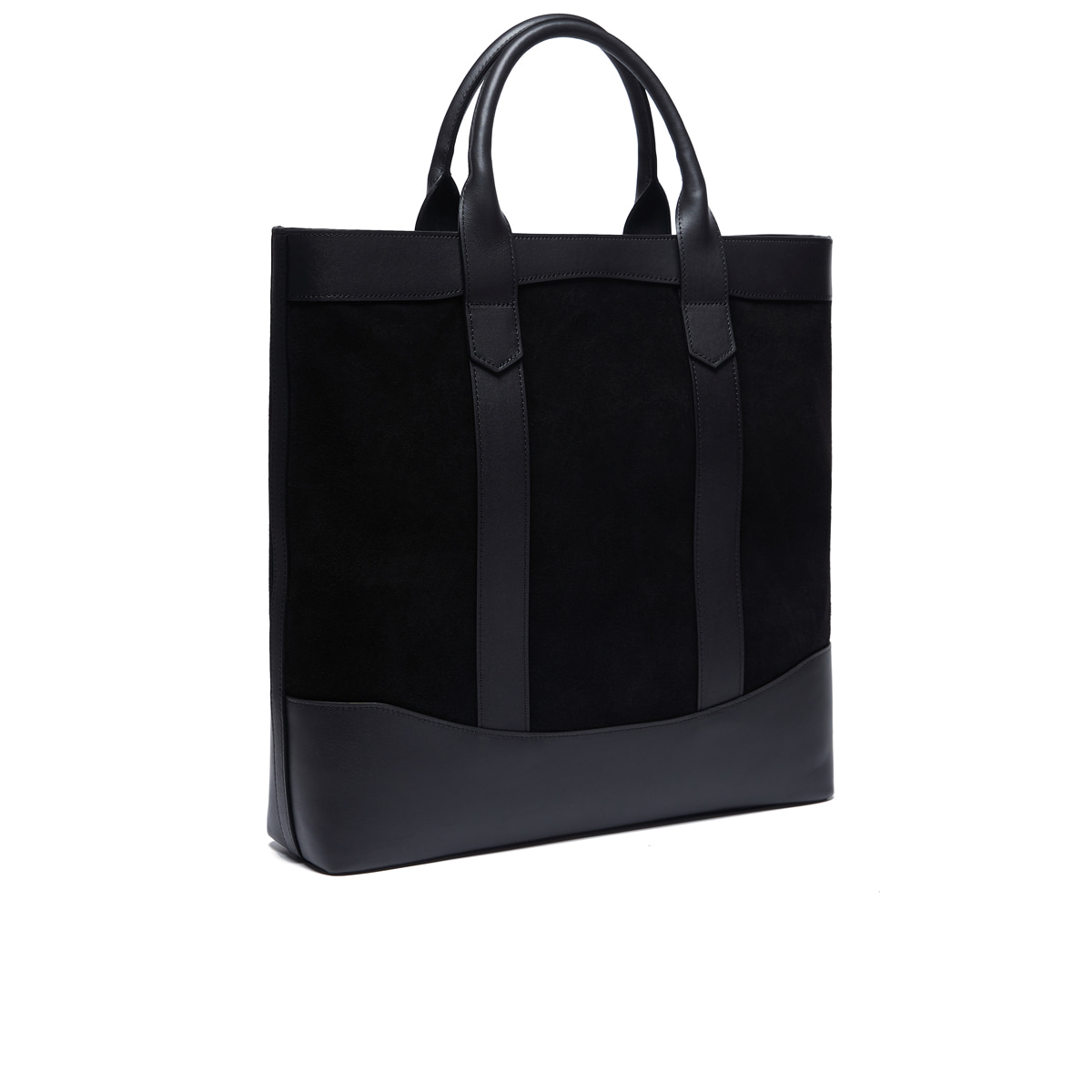 Black Suede D.L Tote bag