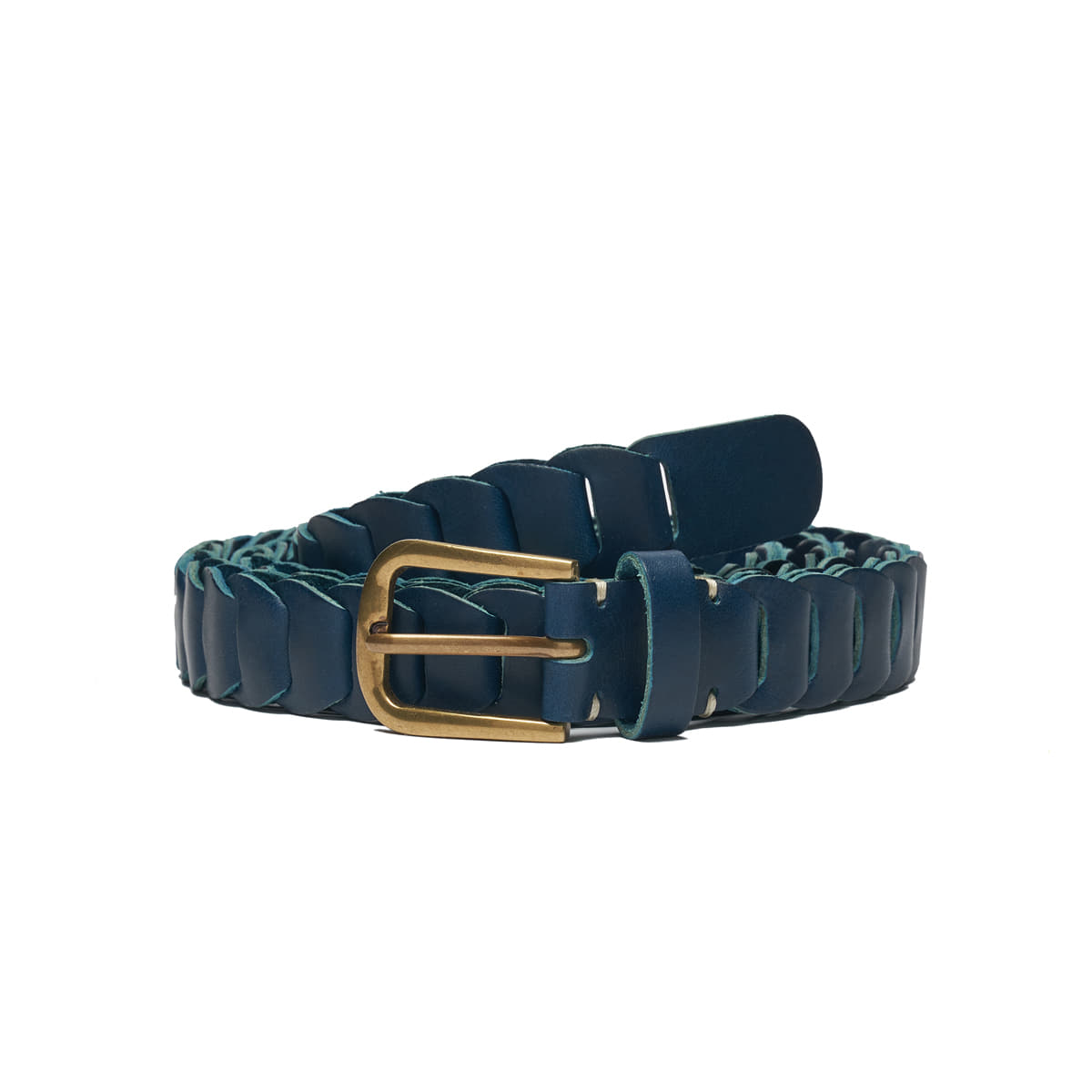AP008 Navy Leather Belt