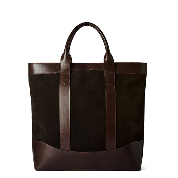Dark Brown Suede D.L Tote Bag