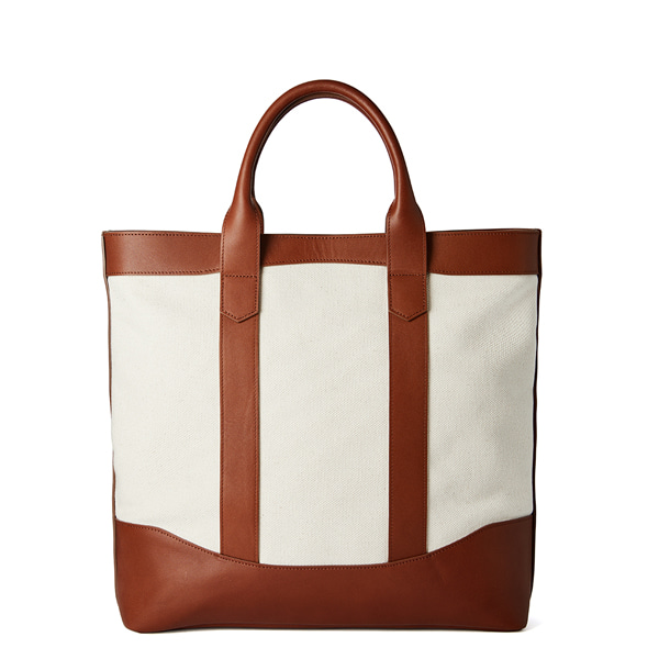 Beige Canvas D.L Tote Bag