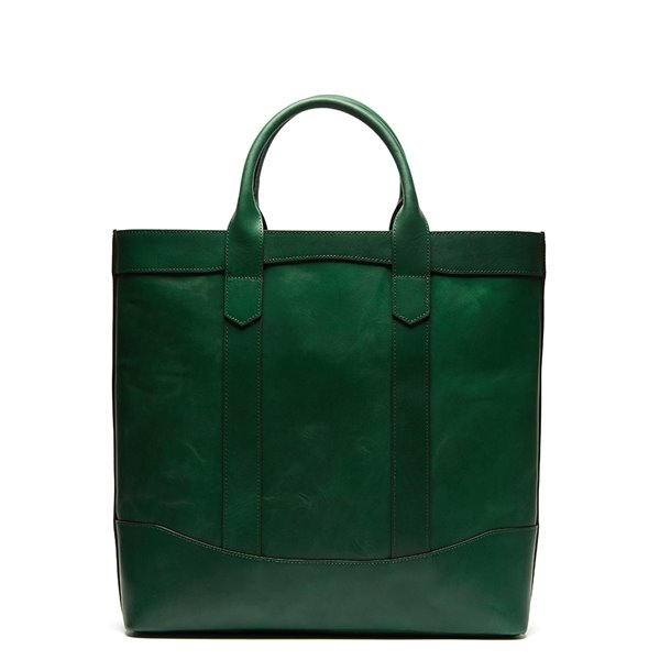 Green Leather D.L Tote Bag