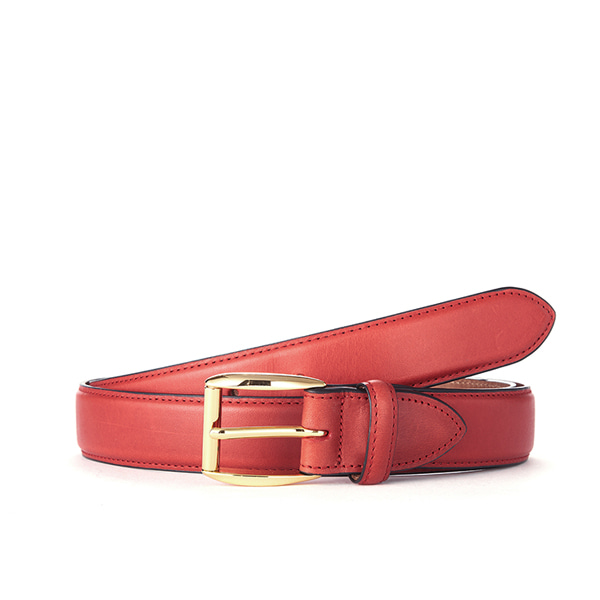 Red Leather Belt (Gold Buckle)