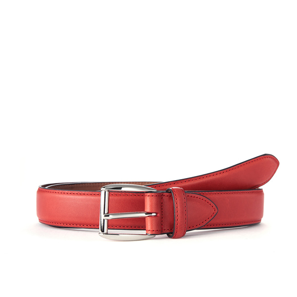 Red Leather Belt (Silver Buckle)
