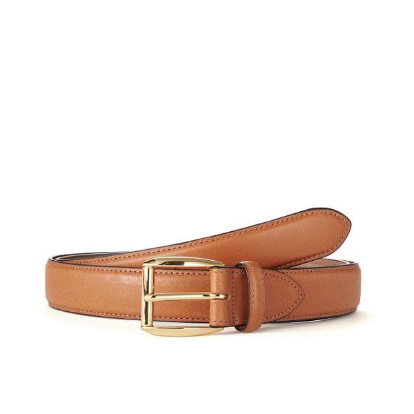 Tan Bridle Leather Belt (Gold Buckle)