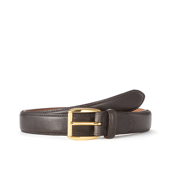 Dk brown Bridle Leather Belt (Gold Buckle)