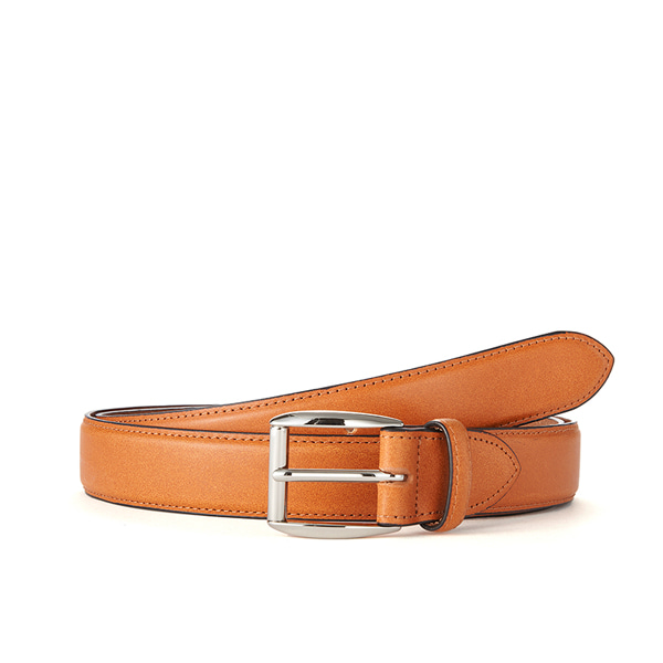 Tan Bridle Leather Belt (Silver Buckle)