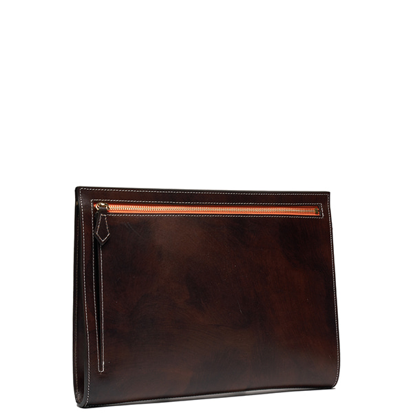 AP003 Clutch bag Patina Dark Brown