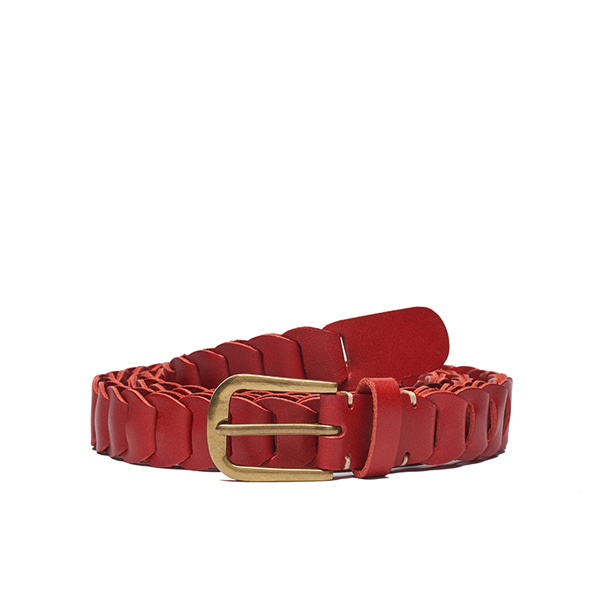 AP008 Red Leather Belt