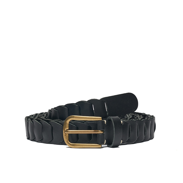 AP008 Black Leather Belt