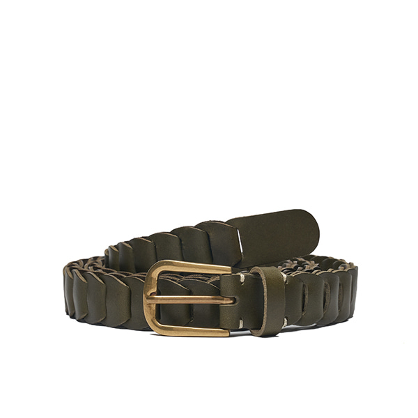 AP008 Khaki Leather Belt