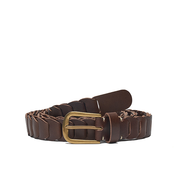 AP008 Dk brown Leather Belt